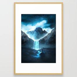 Winterfall Framed Art Print