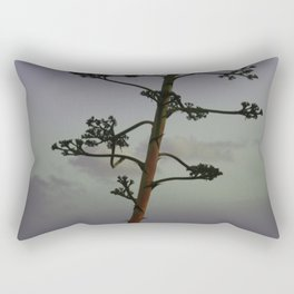 Agave flower stalk and clouds Rectangular Pillow