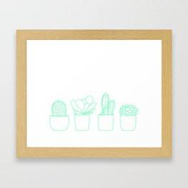 Succulents (Minty Palette) Framed Art Print