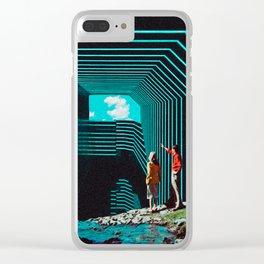 'Digital Dreams' Clear iPhone Case