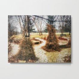 Winding Path - Centennial Garden, Middle Park, Bettendorf, IA Metal Print