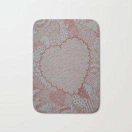 Hearts, hearts and heart Bath Mat