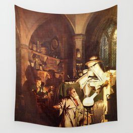 Joseph Wright of Derby - The Alchemist Discovering Phosphorus Wall Tapestry