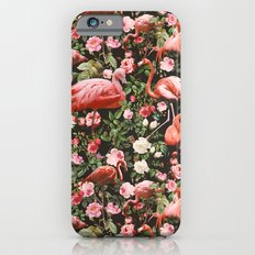 Floral and Flemingo Pattern iPhone 6s Slim Case