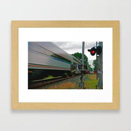 Amtrak on the Move Framed Art Print