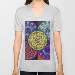 Four Flames and a Fifth Unisex V-Neck