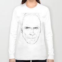 clint eastwood Long Sleeve T-shirts featuring Clint Eastwood by Chuck Jackson