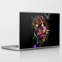 majoras mask Laptop & iPad Skins featuring Majoras Mask by Max Grecke