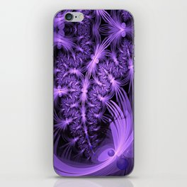 Purple dragonflies Abstract iPhone Skin