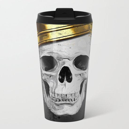 Royal Skull Metal Travel Mug
