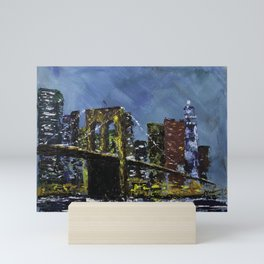 Brooklyn at Dusk Mini Art Print