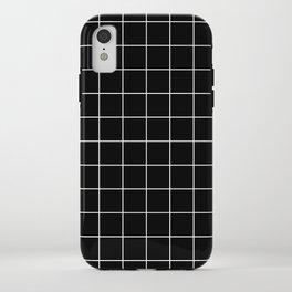 Grid Simple Line Black Minimalist iPhone Case