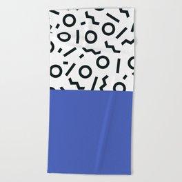 Memphis pattern 44 Beach Towel