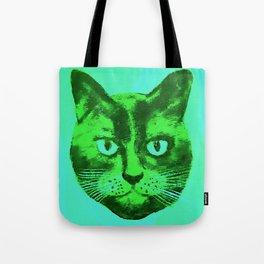 green head cat Tote Bag