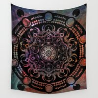 chakra Wall Tapestries featuring CHAKRA by Spectronium - Art by Pat McWain