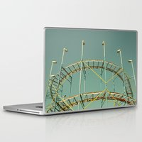 coasters Laptop & iPad Skins featuring rollercoaster by Bianca Green