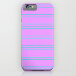 Simple Lines Pattern pl iPhone Case