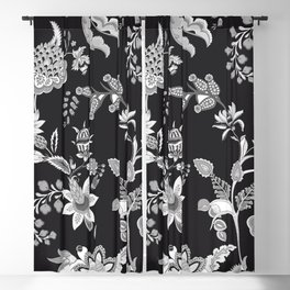 Black Onyx Chinoiserie Blackout Curtain
