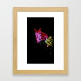 Horse Flower Power Framed Art Print