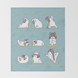 Shih Tzu Yoga Throw Blanket