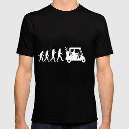 Evolution - golf  black&white T-shirt