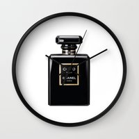 noir Wall Clocks featuring NOIR by I Love Decor
