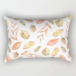 Painted Leaves Rectangular Pillow