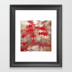 Cream and Red Framed Art Print