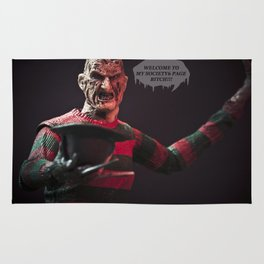 Freddy Welcomes You 2 My Society6 Page... Rug