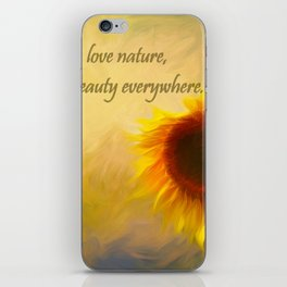Sunflower Love iPhone Skin