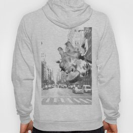 Black and White Selfie Giraffe in NYC Hoody