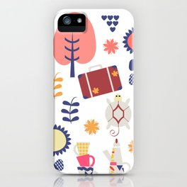 Trave patter 4gf iPhone Case