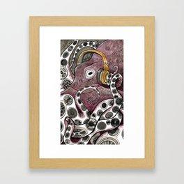 Hip Hip Octopus Framed Art Print