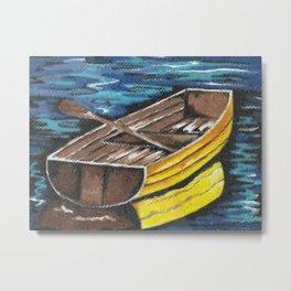 Wooden Dinghy Metal Print