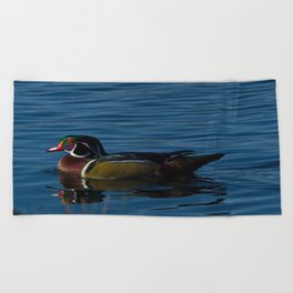 Colorful Wood Duck Beach Towel