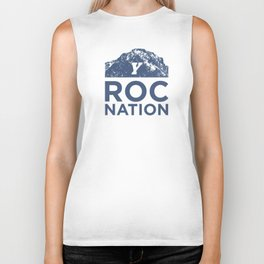 BYU Roc Nation (Blue) Biker Tank