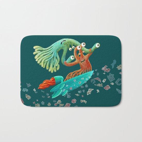 Surfing Monsters Bath Mat