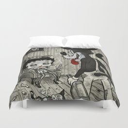 BETTY AND THE WOLF Duvet Cover