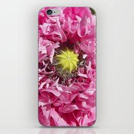 pink poppy macro XII iPhone Skin