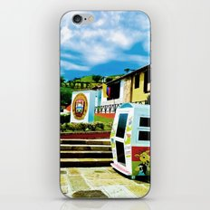 Bright blue sky, bright colors. iPhone & iPod Skin