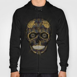Skull Yellow | Tessellating Skulls Pattern | M. C. Escher Inspired Geometric Artwork by Tessellation Hoody