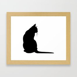 Cat's silhouette Framed Art Print