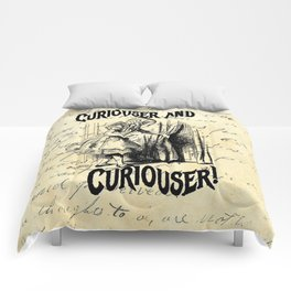 Vintage Curiouser and Curiouser Comforters