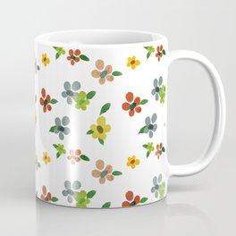 Tiny Delicate Multicolored Flowers Coffee Mug