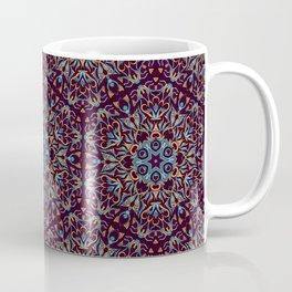 Brown and blue geometric Mandala Rich ornament Coffee Mug
