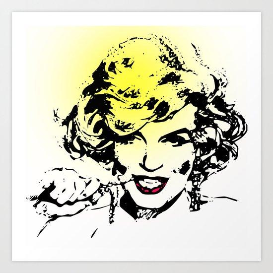 Diamonds are a girls best friend-selective color Art Print