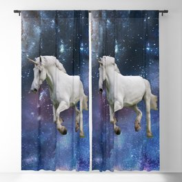 Unicorn and Space Blackout Curtain