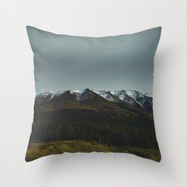 Hiking around the Mountains & Valleys of New Zealand Throw Pillow
