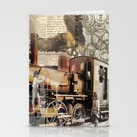 industrial Stationery Cards featuring Industrial by victorygarlic