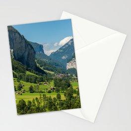 Lauterbrunnen Mountain Valley - Swiss Alps - Switzerland Stationery Cards